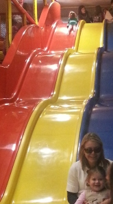 The Giant slide...we were going so fast it was hard to capture a great photo!