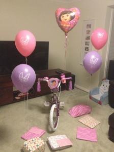 Alethea's 'Dora Bike'