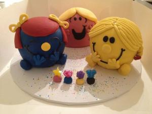 Little Miss Giggles, Sunshine and Chatterbox Cake for daycare!