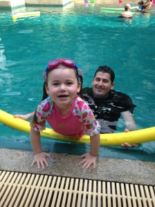Ryan and Alethea in the pool